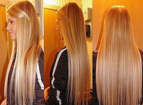 Длина волос нарощенных